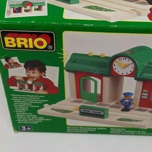 Brio Train Station Play and Record Wooden Railway